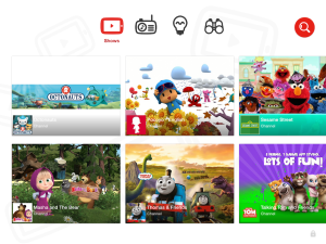 YouTube Kids - main ui